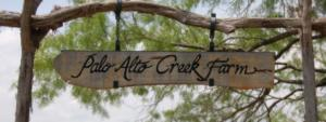 Palo Alto Creek Farm sign