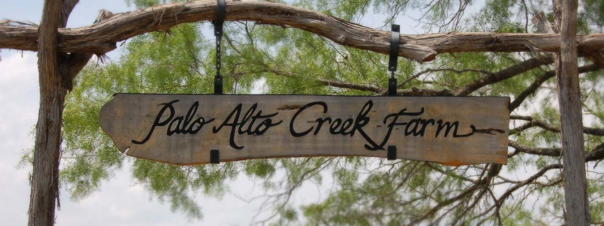 Palo Alto Creek Farm sign
